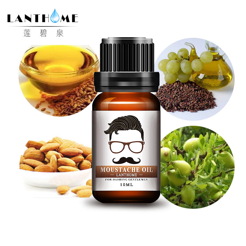 Lanthome Natural Moustache Oil Beard Oil And Conditioner Shape Beard Grooming Products Healthy Moisturizing Beard Styling Smooth