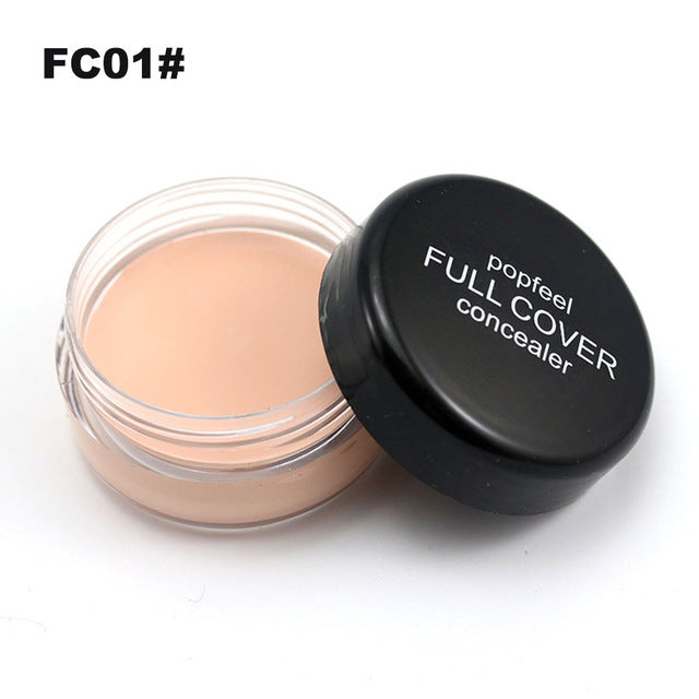 Popfeel Portable Round Full Cover Concealer Natural Makeup Concealers Facial Face BB Cream Foundation Contour Cosmetic Tools