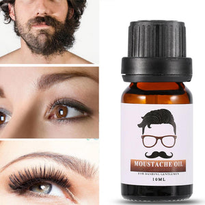 Firstsun 100% Natural 10ml Men Beard Eyelash Growth Oil Hair Mustache Care Grooming Styling Moisturizing Oil Growth Treatments