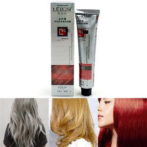 100ml Women Hair Color Dye Light Multi-Color Hair Cream Permanent Easy DIY Super Dye
