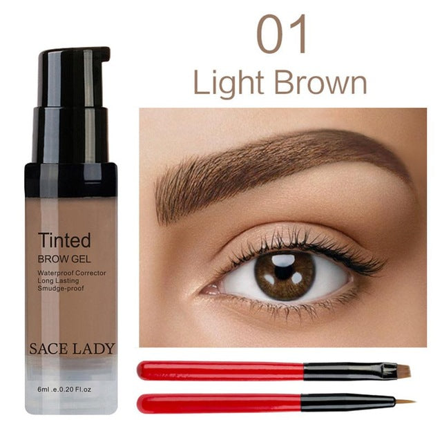 Sace Lady Henna Eyebrow Dye Gel Waterproof Makeup Shadow For Eye