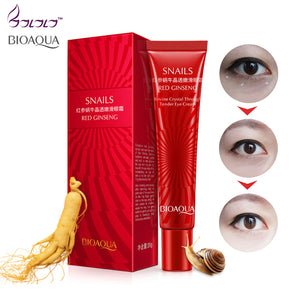 BIOAQUA Brand Snail Essence Eye Cream Moisturizer Instantly Ageless Fade Fine Line makeup gel Remove Dark Circle Lift Skin Care