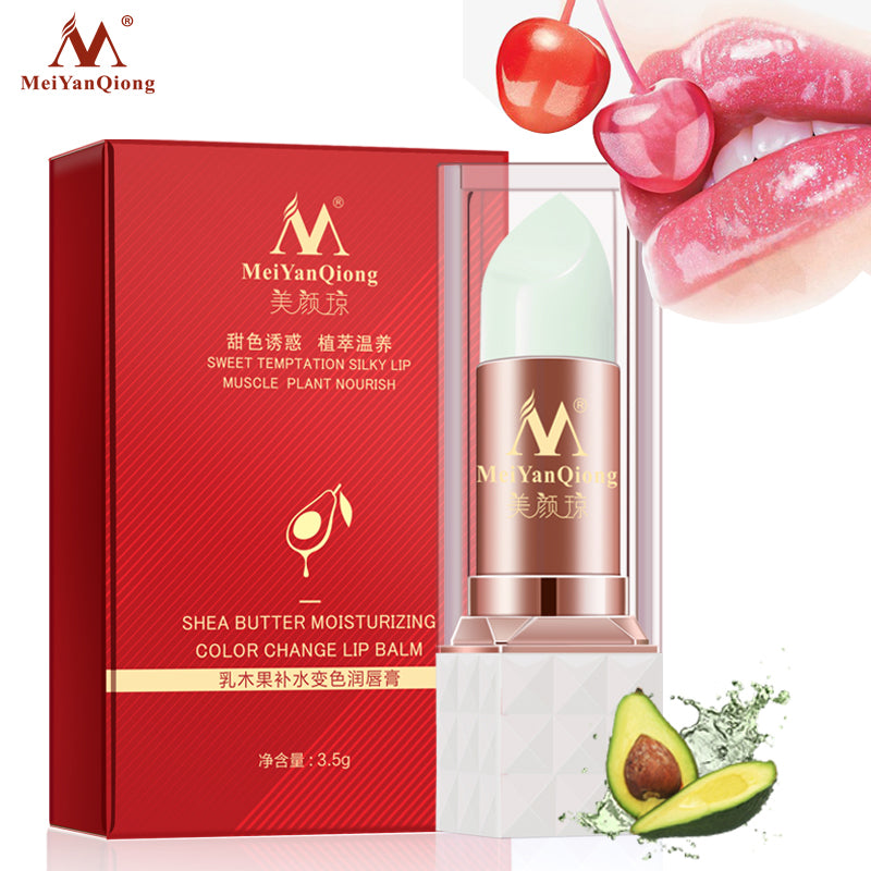 Shea Butter Moisturizing Color Change Lip Balm Skin Care Anti Aging Makeup Lip Care Beauty Nourishing Lipstick Plant Essence