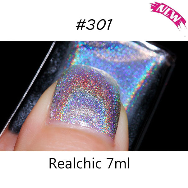 10 colors Realchic Brand 7ml Holo luminous Glitter Gel Nail Polish Gel Varnish Nail Art holographic Nail Polish