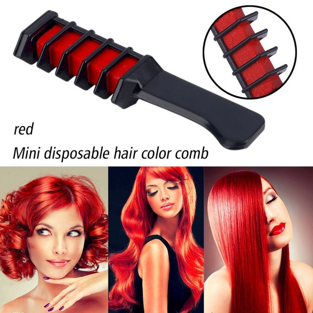 1Pcs Mini Disposable Personal Salon Use Temporary Hair Dye Comb Professional Crayons for Hair Color Chalk Hair Dyeing Tool