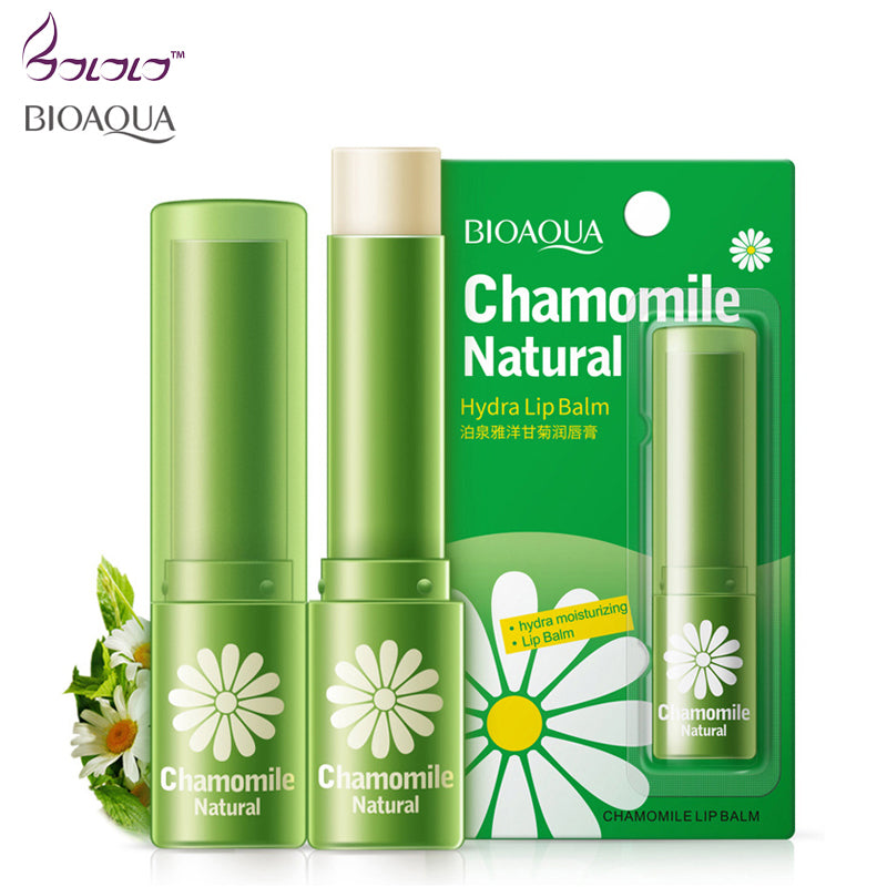 beauty & health natural chamomile moisturizing lip balm repair lips wrinkles fade lip lines lipstick lip care BIOAQUA skin care