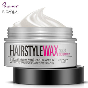 BIOAQUA new hair modelling product Super style Hair wax mud water gel slicked oil wax mud keep hair men women popular hot sell