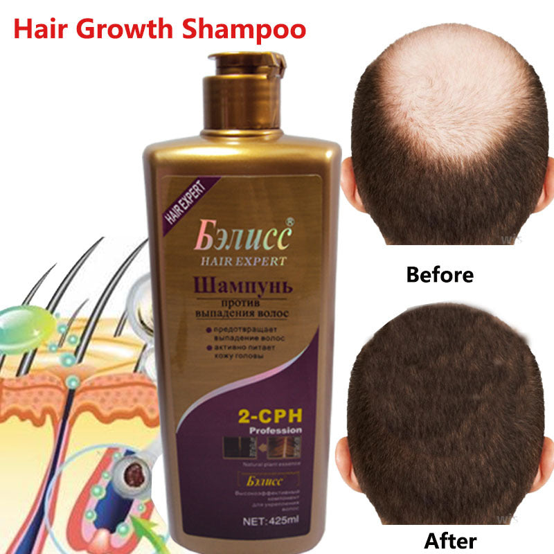 Hair Shampoo Anti-off Hair Growth Natural Herbal Extracts Hair regrowth Fast Shampoo Professional Care 425ml Free Shipping