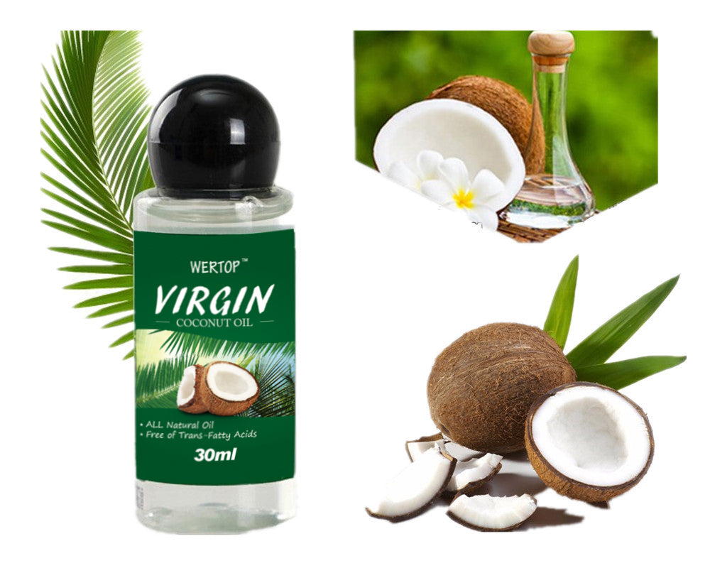 30ML VIRGIN Coconut Oil Extract Cold Pressed Natural Healthy Oil for Hair&Skin Care /Makeup Remover/Body Message DROP SHIPPING