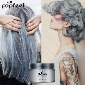 popfeel Unisex Professional Easy Modeling Temporary Dye DIY Hair Color Wax Hair Cream