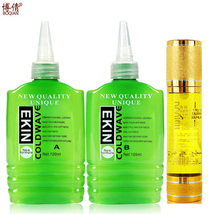 BOQIAN Cold Wave Curling Liquid and Hair Oil For Curly Perm Potion Cream New Formula Moisturizing Hair Care Set BQ33