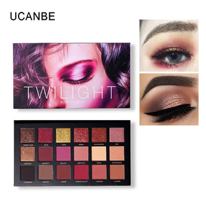 UCANBE Brand Shimmer Matte Eyeshadow Makeup Palette Long Lasting Waterproof Nude Eye Shadow Highlighter Powder Cosmetic Kit