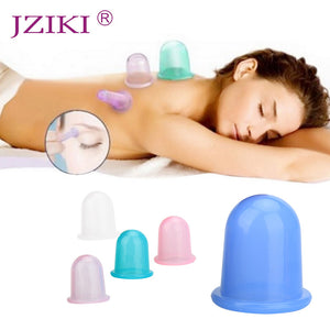 JZIKI 1pc Family Body Massage Helper Anti Cellulite Vacuum Silicone Cupping Cups Health Care Dropshipping