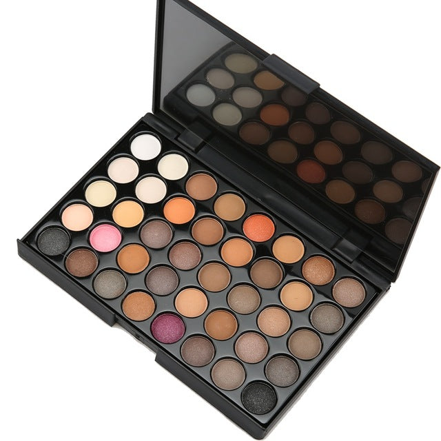 40 colors Matte Eye shadow Pallete Make Up Earth Palette EyeShadow Makeup Glitter Waterproof Lasting Makeup Easy to Wear