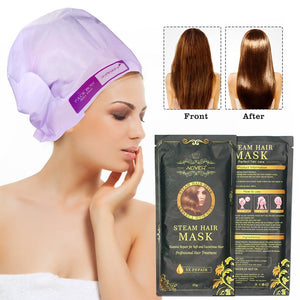 Aliver Automatic Heating Steam Hair Mask Moisturizing Nourish Keratin Argan Oil Treatment Hair Practical Hair Care Mask