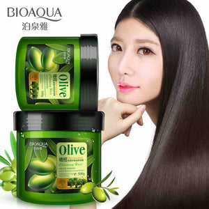 BIOAQUA Olive Oil Hair Mask Moisturizing Deep Repair Frizz For Dry Damaged Hair Smooth Hair Conditioner
