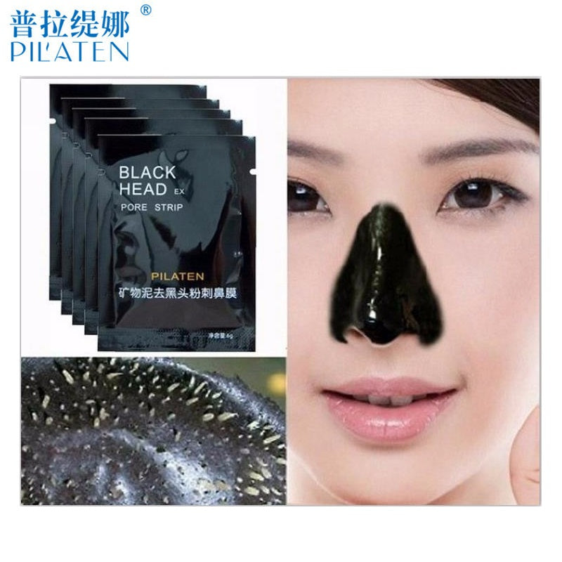 5pcs pilaten Face Beauty Care Nose Facial Blackhead Remover Makeup Mask Black Head Peel Off Minerals Mud Pore Cleanser