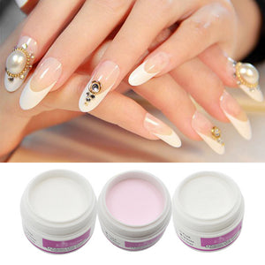 ROSALIND 1pcs Nail Polymer Acrylic Powder Crystal Nail Polymer Nail Art Tips Builder Tools Colorful  White Clear Pink Color
