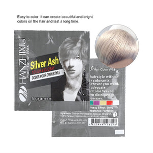 Grey 5g Disposable Fashion Styling Hair Coloring Dye Wax Mud Easy Coloring Cream Super Dye For Men Hair Styling Salon