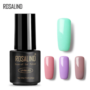ROSALIND Gel Pure Color 58 Colors 31-58 Gel Nail Polish Semi Permanent Lucky Nail Art UV Manicure Colorful Gel Varnish