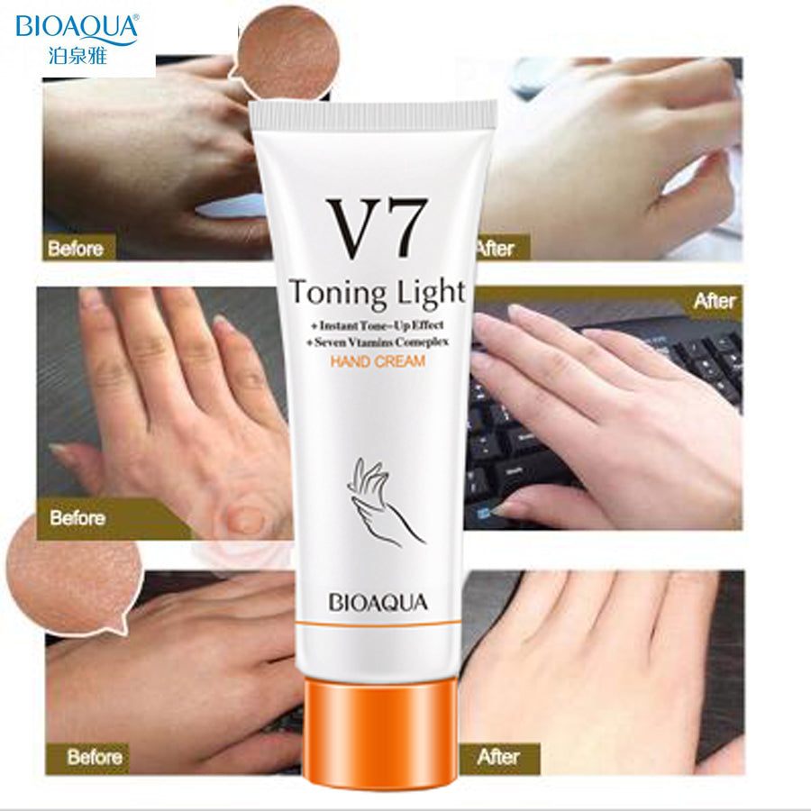 Bioaqua V7 Soft Hand Cream Lotions Serum Repair Nourishing Hand Skin Care Anti Chapping Anti Aging Moisturizing Whitening Cream