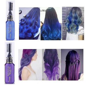 Hot 13 Colors Easy to Wear One-time Hair Color Cream Non-toxic Temporary Grey Blue Hair Dye Mascara Color Hair Tools