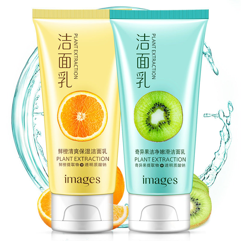 IMAGESS Kiwi fruit clean tender cleanser washing 120 g moisturizing whitening oil-acne control skin care products cleaner skin