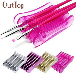 5 Grid Nail Art Penholder Nails Salon Brush Rack Accessory size Tool Manicure UV Gel Crystal Brush Storage holder Dropship U0306