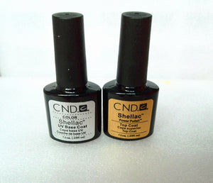 Free shipping 2016 HOT SALE  CND New Shellac UV Gel Polish Base Coat gel Top Coat .25oz/7.3ml bonder +uv