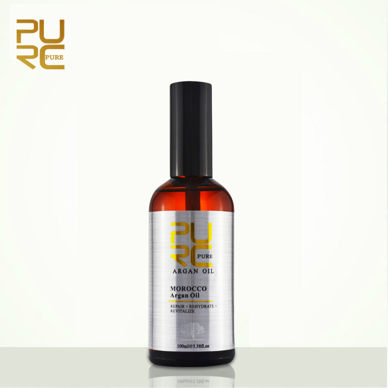 PURC Moroccan argan oil for hair care and protects damaged hair for moisture hair 100ml hair salon products 11.11 PURE