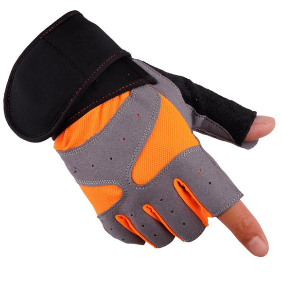 Drop Shipping 2017 Men Sports Cycling Gloves Half Finger Bike Gloves Breathable MTB Mountain Bicycle Gloves #EW