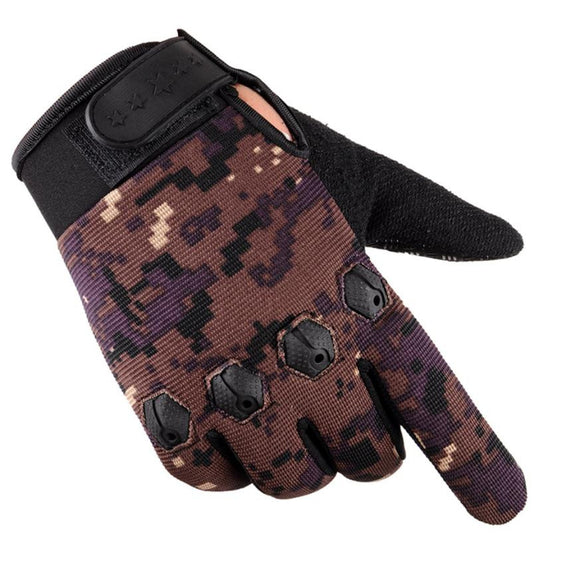 Drop Shipping 2017 Winter Men Sport Warm Cashmere Male Warm Camouflage Cycling Gloves Full Finger Gloves #EW