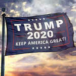 Trump 2020 Double-Sided Keep America Great or USA Flag