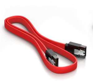 High Speed SATA Cable with Latches (Red) - 20 Inches