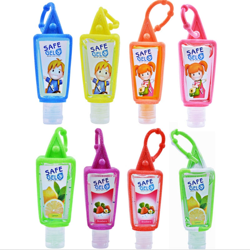 5 Pk 30ml/1oz Travel Size 99.9% Antibacterial Disinfection Quick-Dry Gel Hand Sanitizer - Portable - Leak Proof
