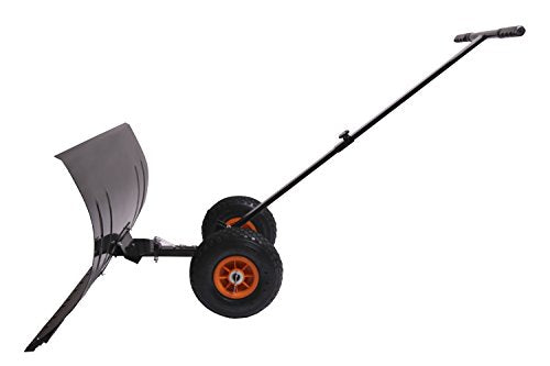 MD Sales Force Premium Snow Shovel, Wheeled Snow Pusher, Durable Wheeled Snow Pusher - Time and Energy Saving Snow Removal Tool