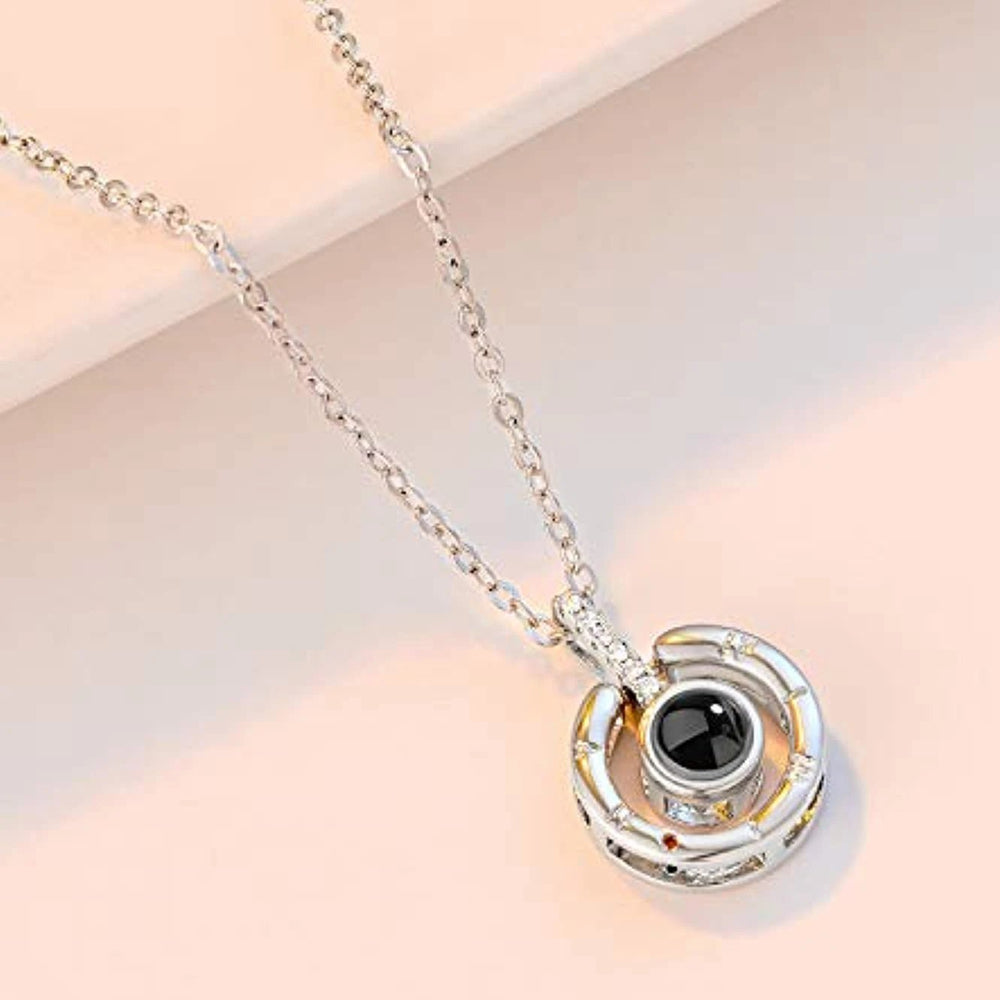 "100 Language ""I LOVE YOU"" Projective Pendant Necklace"