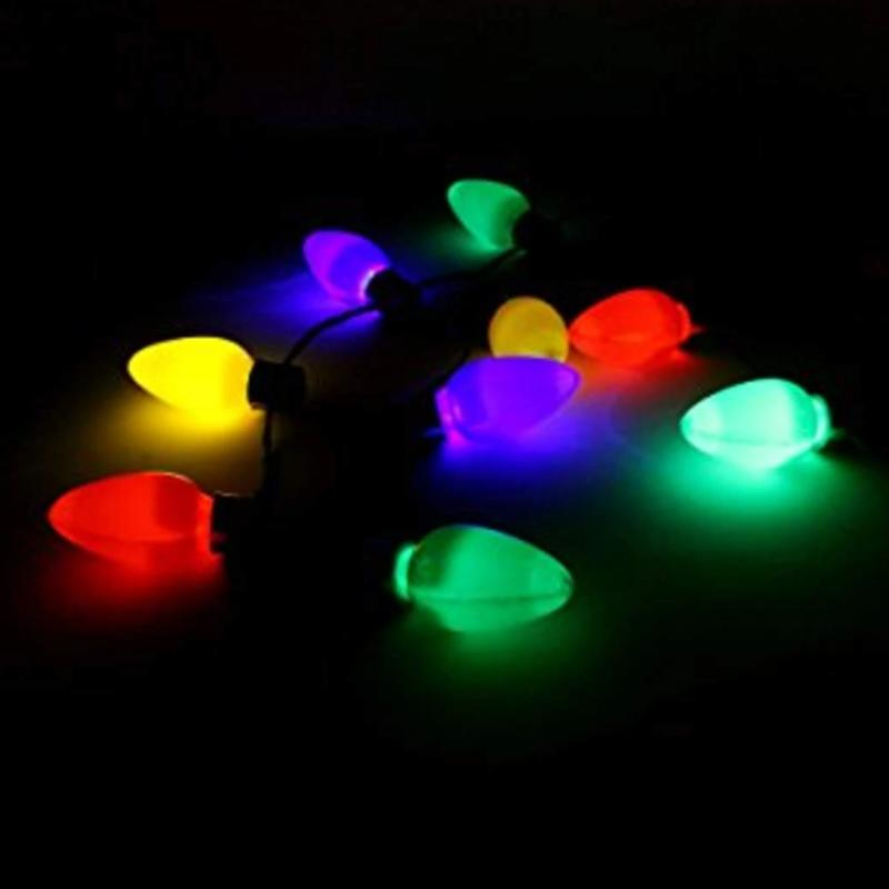 3 Pack: Large 12 LED Christmas Bulb Necklace Light Up Party Favors