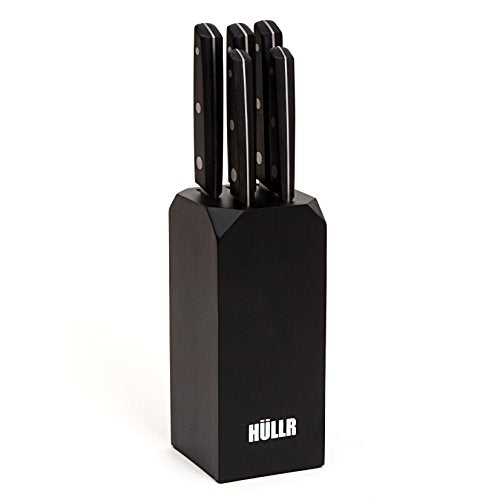 5 Piece: Ultra Premium Stainless Steel Kitchen Knife Set with Black Handles