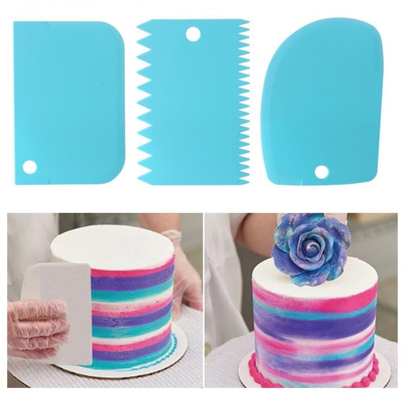 3 Piece Icing Scraper Cake Decorating Tool