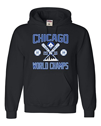 Go All Out Screenprinting Adult Chicago World Champs Sweatshirt Hoodie