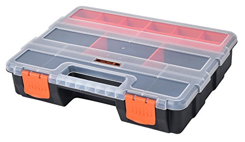 4-in-1 Black & Orange Tool Organizer Box Set