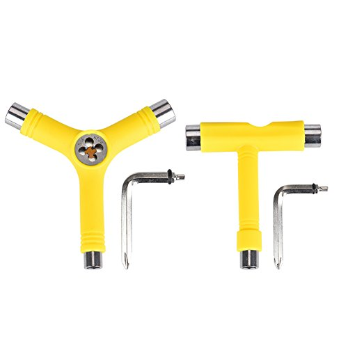 Alouette Skate Tool Set of 2,All-In-One Multifunctional portable T-tool&Y-tool for skateboard