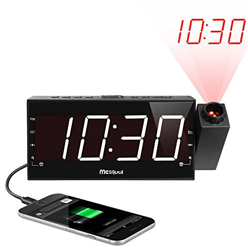 Projection Alarm Clock with USB Charging Port