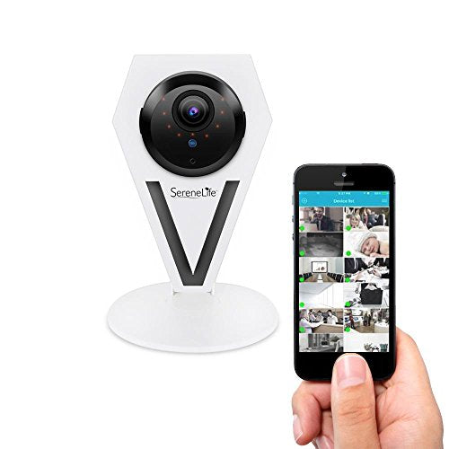 Mini Indoor Wireless HD 720p Network Security Surveillance Camera with Motion Detection, Night Vision & 2-Way Audio