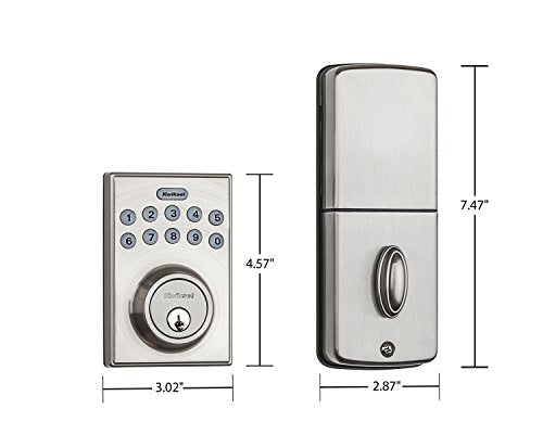 Contemporary Electronic Keypad Single Cylinder Deadbolt with 1-Touch Motorized Locking System