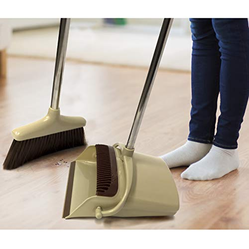 Tall Hard Surface Broom and Easy Clean Dustpan Set