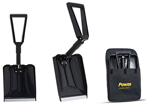 "Power Foldable Shovel – Completely Collapsible Form 26"" Overall Length 12.5"" Compact Length (Black Color)"