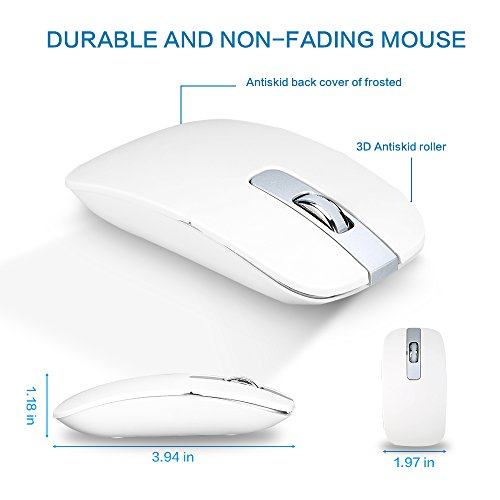 Ultra Slim Ergonomic Design 2.4GHz Wireless Full-Size Keyboard and Mouse Combo
