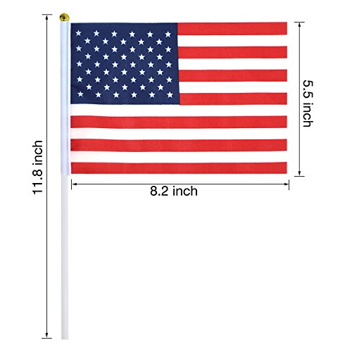 USA Stick Flags with Ball Tip